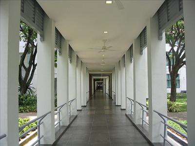Central Corridor of the Hospital - Singapore General Hospital
