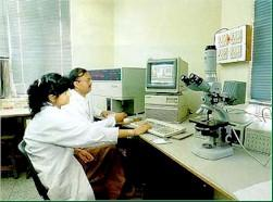 Flowcytometry in progress in the Biotechnology Laboratory - All India Institute of Medical Science (AIIMS)
