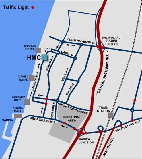herzliya medical center map