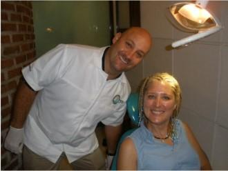 Dr. German Arzate with a Patient - Cancun Cosmetic Dentistry